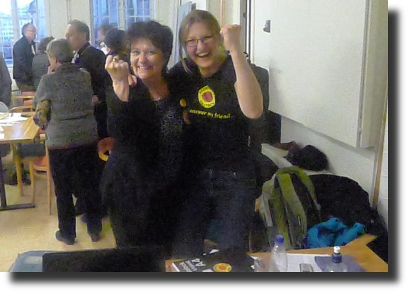 Nya ordföranden Solveig Ternström och Anna-Linnéa Rundberg, gillade inte artikeln alls